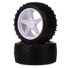 2x 1/10 HSP Off-road Buggy 06024 Rear Wheel Rim Tyre,Tires Insert Sponge 66026