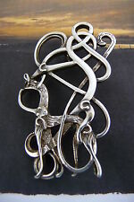 Scottish Zoomorphic Silver 925 Serpant Brooch Pin Ola Gorie Norwegian Influence