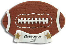 FOOTBALL Personalized  CHRISTMAS Ornament  HANDMADE POLYMER CLAY BY Deb & Co.