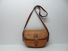 vtg LA TOUR EIFFEL PARIS  HANDBAG SHOULDER BAG TAN GENUINE LEATHER