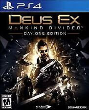 DEUS EX MANKIND DIVIDED DAY ONE EDITION * PLAYSTATION 4 * BRAND NEW SEALED!