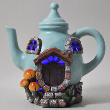 Fairy House Tea Pot Home Garden LED Light Elf Pixie Magical Xmas Decor NEW 39211