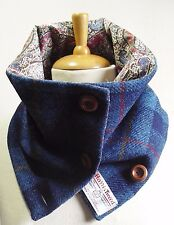 HARRIS TWEED Scarf/Cowl/Neckwarmer with Liberty Cotton lining