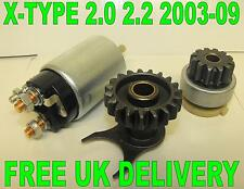 NEW JAGUAR X-TYPE ESTATE 2.0 2.2 D 2004-2009 STARTER MOTOR SOLENOID & DRIVE X 2