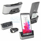Dual Sync Docking Station Battery Charger Cradle OTG Stand For LG G3 D850 D855