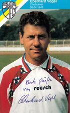 Eberhard Vogel, DDR Fussball, Carl Zeiss Jena original signiert/signed !!!