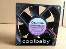 Sunon KD1208PTS1 Fan 80*80*25mm  12V 2Pin 2 wire