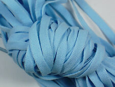 "New! 1 Pair Set Sky Blue Shoelaces Shoe Strings Lace Sneakers Flat 47"" Light"