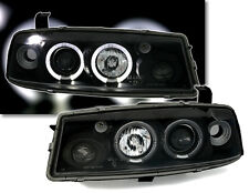 Black clear finish ANGEL EYES HEADLIGHTS SET for OPEL CALIBRA