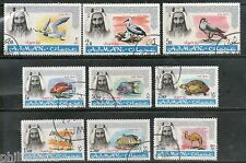 Ajman 1965 Wild Life Birds Fish Eagle Reptiles Sc C1-9 Air Mail Cancelled #5724A