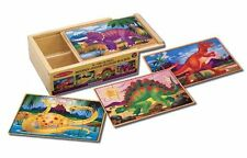 Melissa and Doug Deluxe Dinosaur in a Box Jigsaw Puzzles , New, Free Shipping