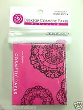 DAISO JAPAN DESKTOP OIL BLOTTING PAPER 250sheets RANDOM PATTERN MADE IN JAPAN