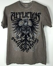 Mens Affliction Shirt Large Graphic Tee Short Sleeve Crew Cotton Seek Destroy
