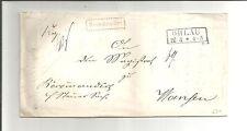 Preussen V. / OHLAU Ra2 auf Reco-Steuer-Brief 1862 n. Wansen