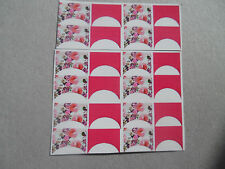 20 water slide nail art transfer hot pink floral french tips Trending 4 sizes