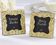 1 All That Glitters Gold Wedding Photo Picture Frame Place Card Holder Favor