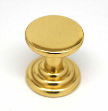 Amerock Fusital Polished Brass Cabinet Door Cupboard Drawer Pull Knob
