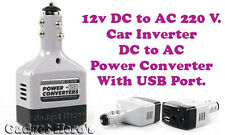Car DC 12V to AC 220V Inverter Power Converter Adapter Charger With USB Port