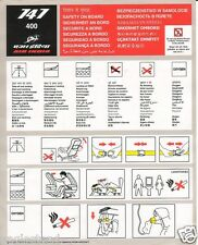 Safety Card - Air India - B747 400 (S3383)
