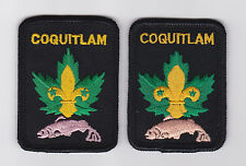 SCOUT OF CANADA - CANADIAN SCOUTS BRITISH COLUMBIA (BC) COQUITLAM DISTRICT Patch
