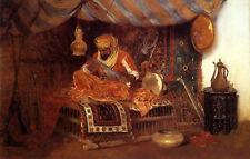 Stunning Oil painting William Merritt Chase - Arab man - The Moorish Warrior 36""
