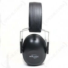 Black EAR DEFENDERS - Hearing Protection Padded Noise Protecting Work Muffs