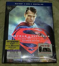 New Batman V Superman Dawn of Justice Bluray/DVD Lenticular Digibook Target Edtn