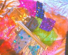 sparkly fabric off-cuts/scraps for collage/card making/ kids crafts etc