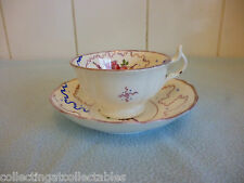 Victorian Sunderland Lustre Floral Cup And Saucer