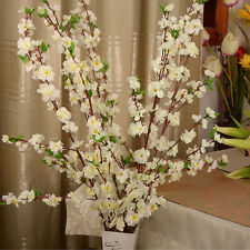 50inch Artificial Cherry Spring Plum Peach Blossom Branch Silk Flower Tree Decor
