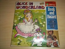 """Vintage Alice in Wonderland Story Book and  7"""" Record Sealed! by Peter Pan Books"""