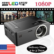HD 3D Projector Home MulitMedia Theater Cinema USB TV VGA SD HDMI Projector Gift