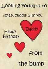 1st Cuddle Daddy dalla rugosità HAPPY BIRTHDAY A5 Personalizzata greeting card pidb11