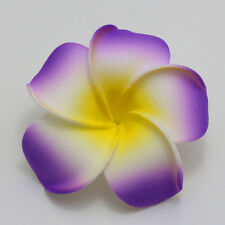 2 pieces Hot Purple NEW Foam Floating Frangipani/Plumeria/Hawaiian Flower Head