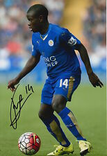 LEICESTER CITY HAND SIGNED N'GOLO KANTE 12X8 PHOTO 16.
