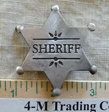 SHERIFF 6 PT. STAR (COLLECTABLE)  BADGE (BADGES OF THE  OLD WEST) FREE SHIPPING