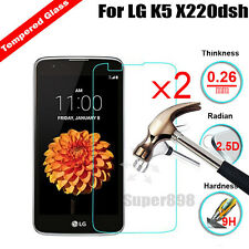 2Pcs 9H Real Screen Protector Tempered Glass Protective Film  For LG K5 X220
