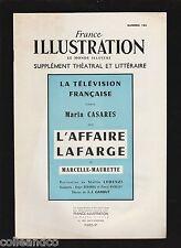 █ FRANCE ILLUSTRATION supplément théatral n° 163 : L'Affaire Lafarge █
