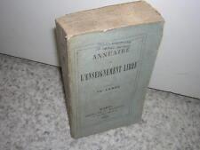 1890.annuaire de l'enseignement libre.école catholique