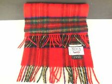 100% Cashmere Royal Stewart Rally Klad Plaid Scarf from Avoca Collection 59x12