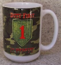 Coffee Mug Military Army 1st Infantry Division NEW 14 ounce cup with gift box