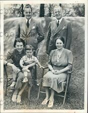 1938 Canada Conservative Party Leader Dr RJ Manion With His Family Press Photo