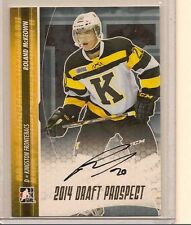 ROLAND MCKEOWN 2014 LEAF IN THE GAME ITG DRAFT PROSPECTS ON CARD GOLD AUTO /20