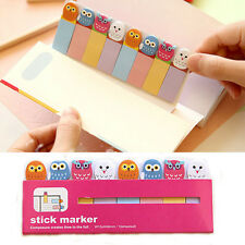 Cute Owl/lollipop Sticker Post-It Bookmark Point Marker Memo Flags Sticky Notes