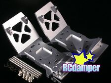 ALUMINUM FRONT & REAR LOWER SKID PLATE S FOR HPI MINI SAVAGE XS FLUX ALLOY
