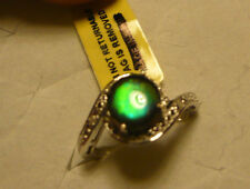 Ammolite & Diamond RIng Sz. 7  3 gemstones 1.67tcw MSRP $564
