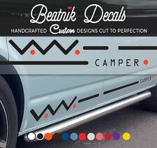 VW Camper Van Side Stripes Stickers Decals Volkswagen Transporter T4,T5 Graphics