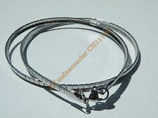 Chaine Collier Ras de Cou 45 cm Maille Serpentine Incurvé Argenté Acier Inox 4mm