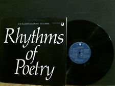 RHYTHMS OF POETRY   Various  LP   Open University    Lovely copy !!