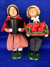 BYERS CHOICE Victorian Choir GIRL & Candy Apple BOY 10 Inch SET OF 2 Retired LOT